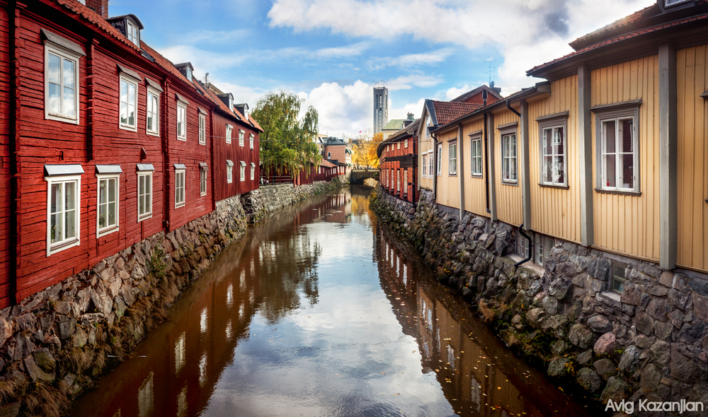 Västerås City vasteras sweden river old.jpg
