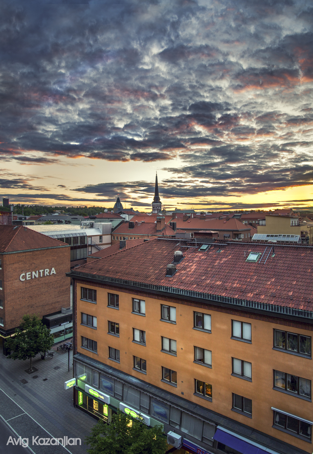 Sunset in Västerås