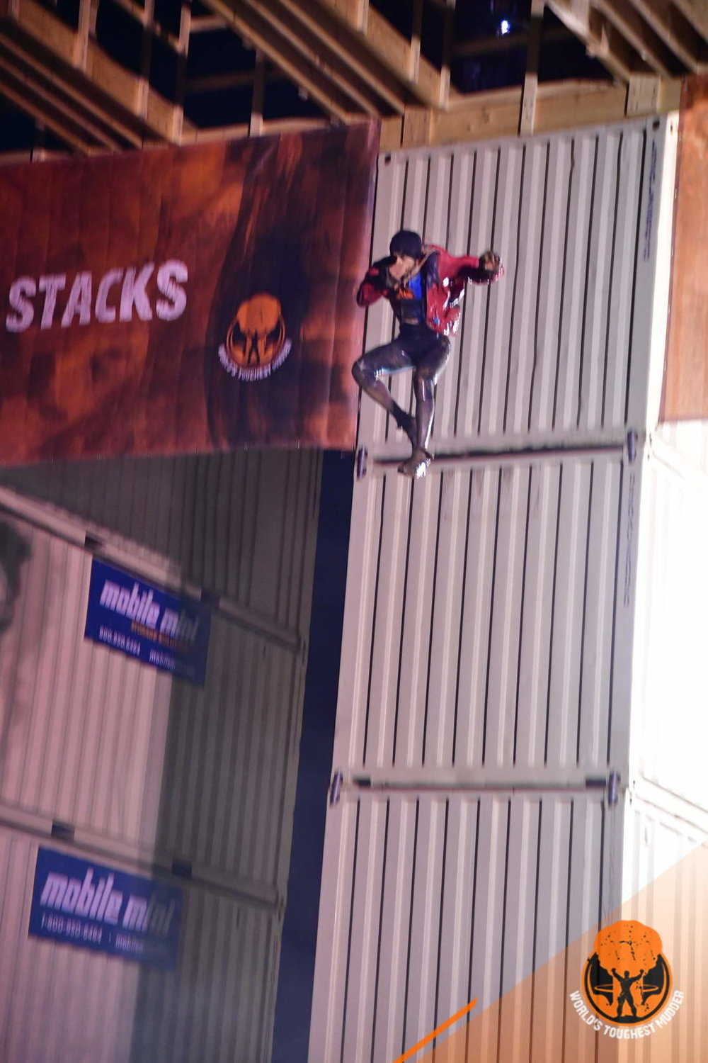 Javier was the first athlete of the day to jump off the 37t stacks.