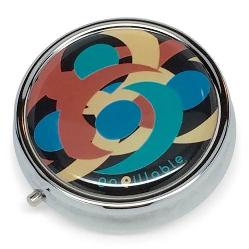 Midnight Swirl Gopillable Best Decorative Pill Boxes For Purse