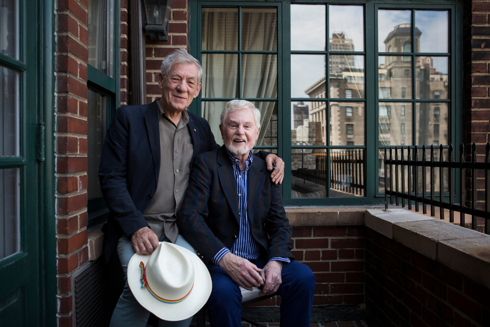 Sirs Ian McKellen and Derek Jacobi, 2015 for The New York Times