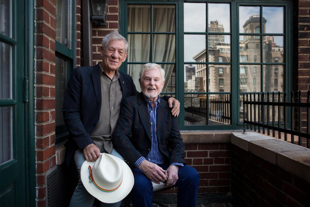 Sirs Ian McKellen and Derek Jacobi,2015