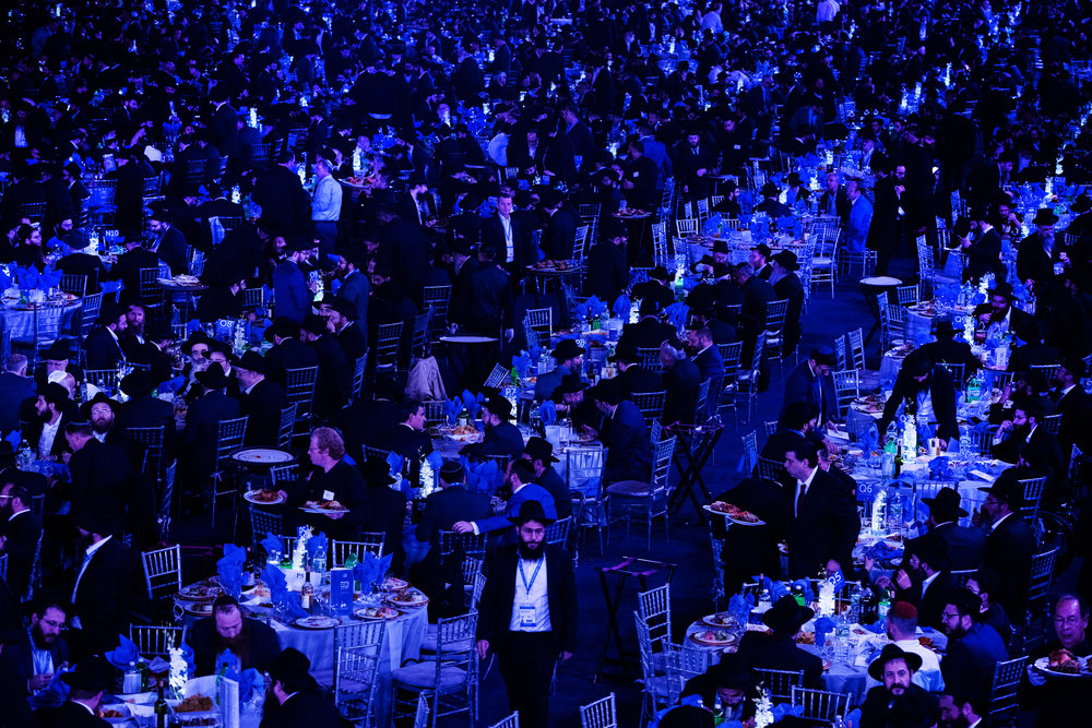 Thousands of Chabad-Lubavitch rabbis gather for a banquet in Suffern, NY on November 4.