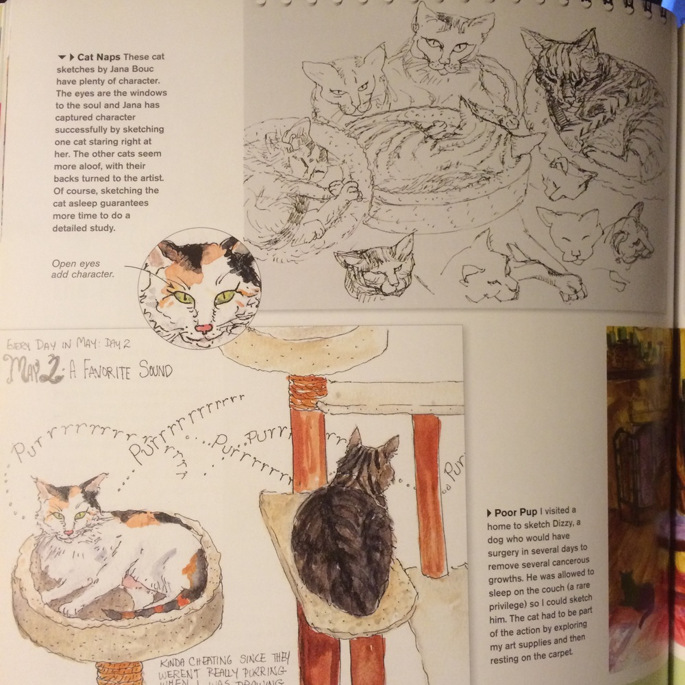 My favorite pages involve animal sketches, obviously!