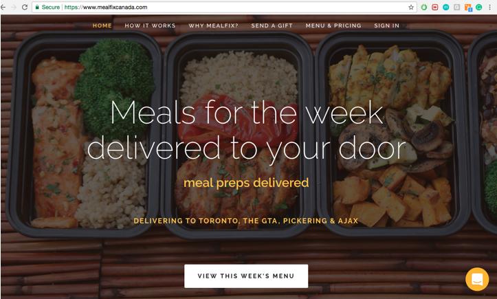 MealFix HomePage