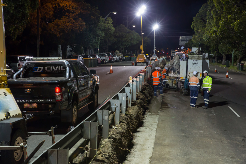sd civil-all concrete-sydney roadworks