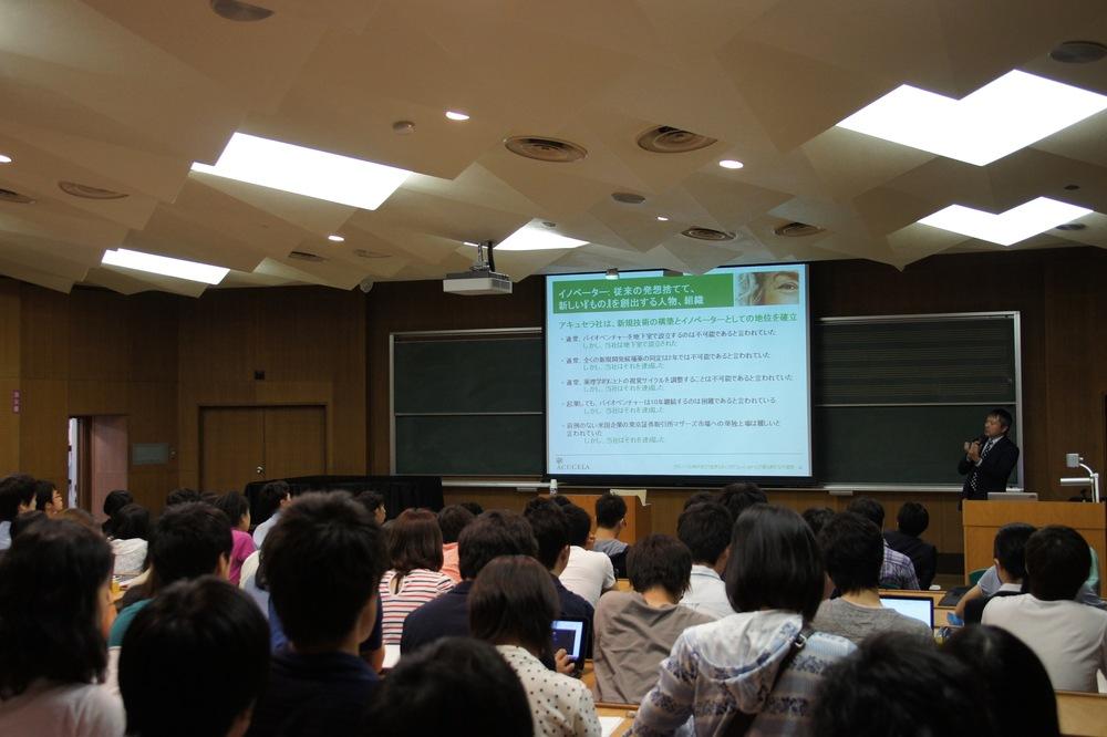 東京大学での講演の様子