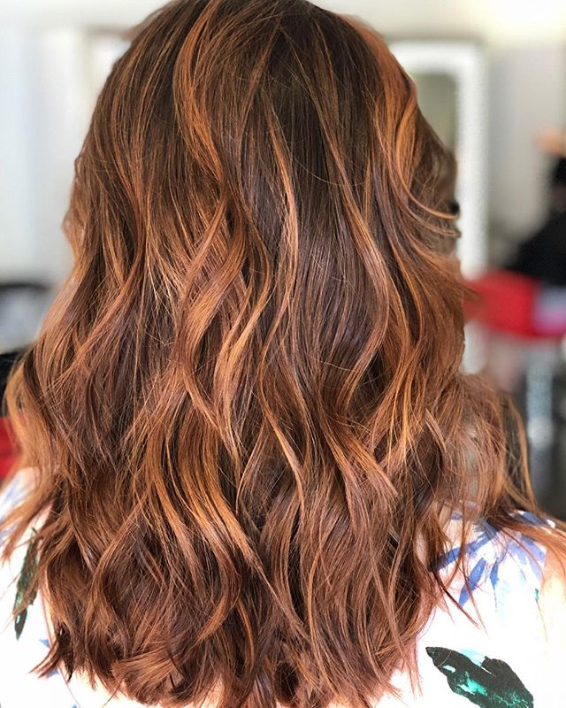 This soon to be mom is due any day now and needed a pick me up before the big due day.  Thank you Christine for trusting me with you hair 😊 #foilayage