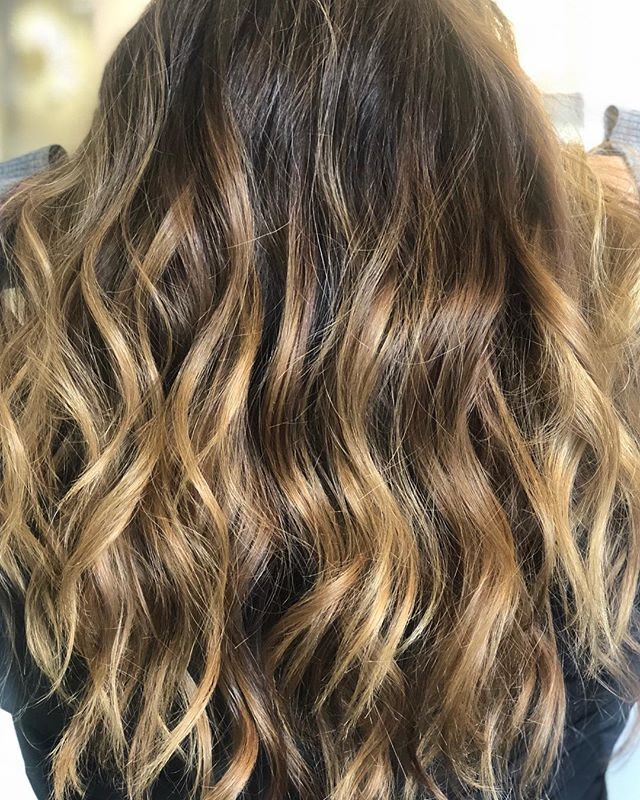 The best part about having balayage done is it only needs to be touched up between 3-4 months.  This is what 2 months of balayage looks like 😍