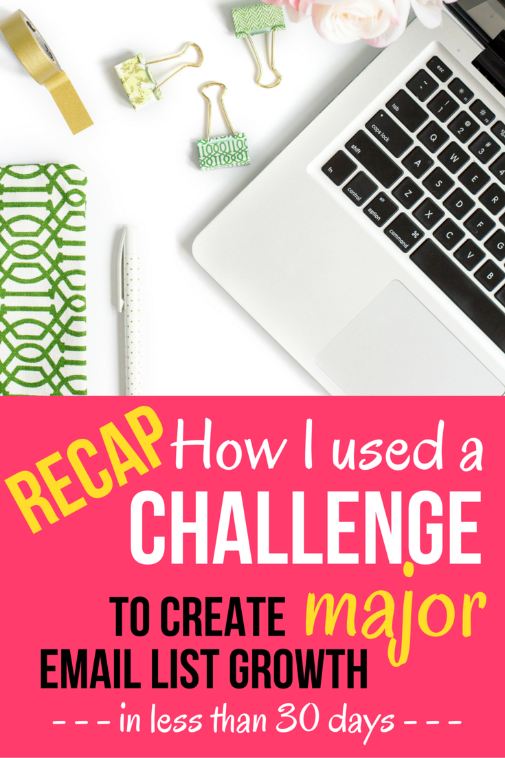 How to Use a Challenge to Create Major Email List Growth | I'm sharing step-by-step how I created the 14-day #PinProfitChallenge that exploded my email list, and helped to launch a paid course offering.  Click through to read the full recap, plus grab you free 27 point Pinterest checklist to get started turning your Pinterest account into a marketing machine for your business!
