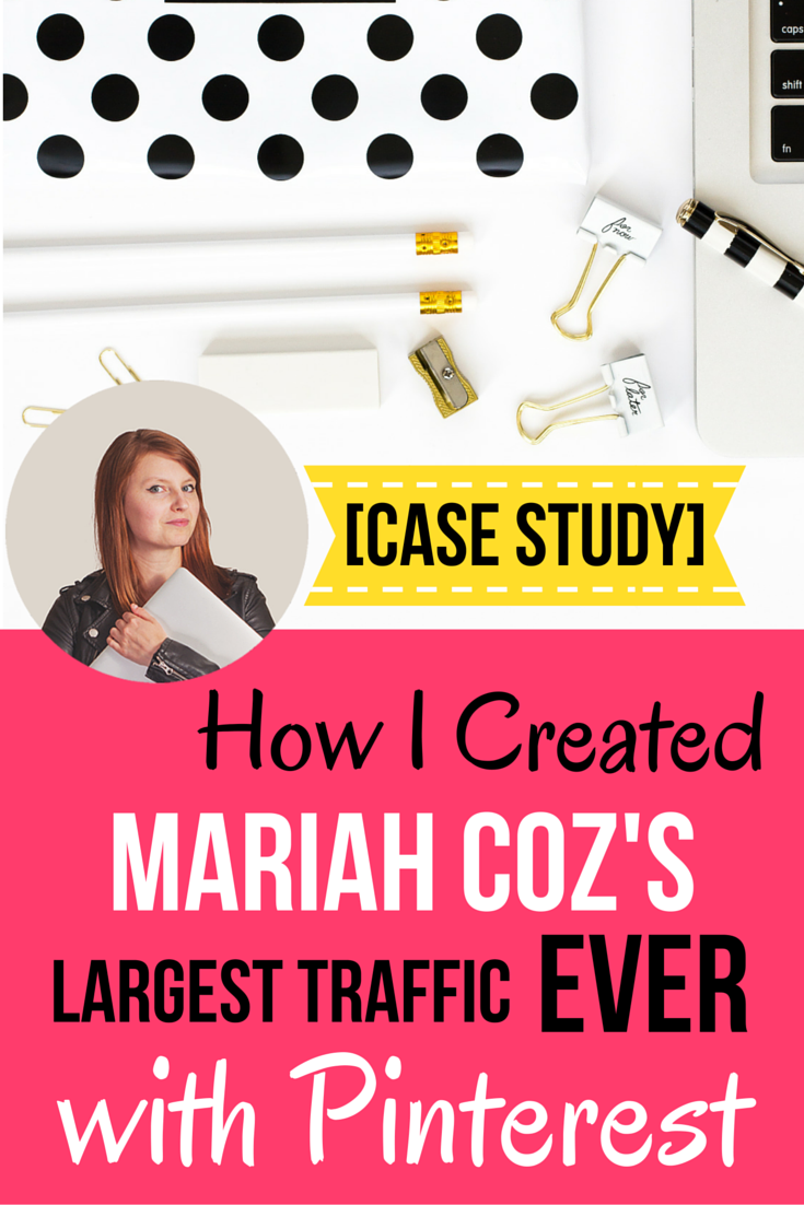 [CASE STUDY] How I created Mariah Coz's largest traffic numbers EVER with Pinterest.  In under 30 days, Pinterest has become Femtrepreneur.co's top social media referral source and Mariah's email list is exploding.  Find out step-by-step how I made it happen!