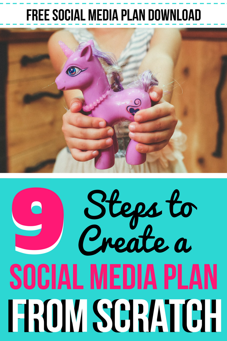 9 Sure Fire Ways to Create a Social Media Plan from Scratch. Figuring a plan to post to Twitter, Instagram, Pinterest, and Facebook can be a challenge! We're breaking it down into 9 easy to follow steps, along with an example social media plan for you to download!