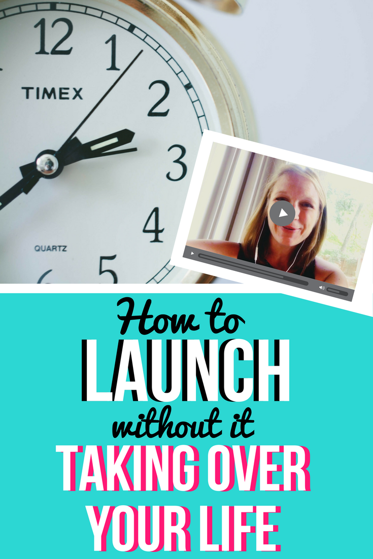 Launch your online Course WITHOUT it taking over your life! Launching | Online Sales | Launch Strategy