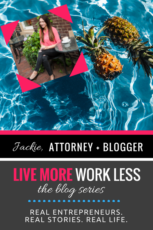 Create a Live More, Work Less Lifestyle as an entrepreneur! Read Jackie's real life story >> #entrepreneur #workfromwherever #livemoreworkless