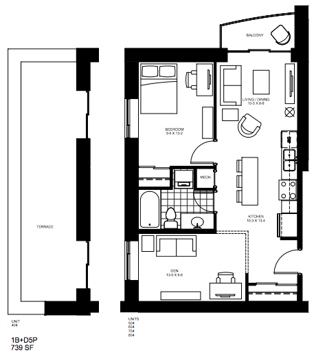 2 Bedroom Suite   2 Bed 3. $1,700  Early Bird Pricing: $1,650 / month    Click for Virtual Tour