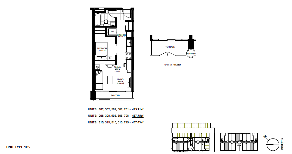 STYLE: 1B5 $1,195 / month 1 Bedroom Suite.