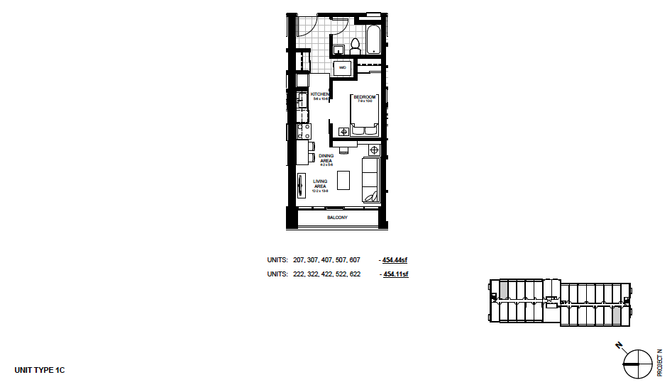 STYLE: 1C $1,195 / month 1 Bedroom Suite.
