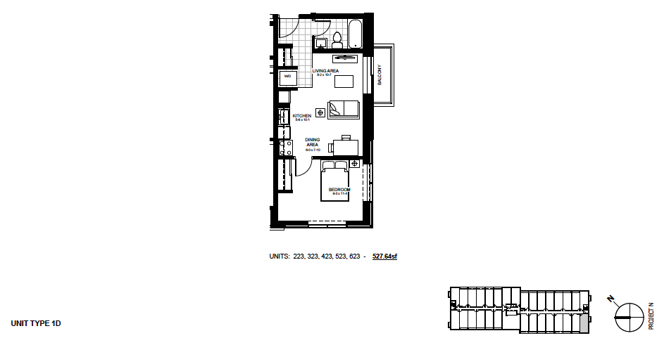 STYLE: 1D $1,295 / month 1 Bedroom Suite.