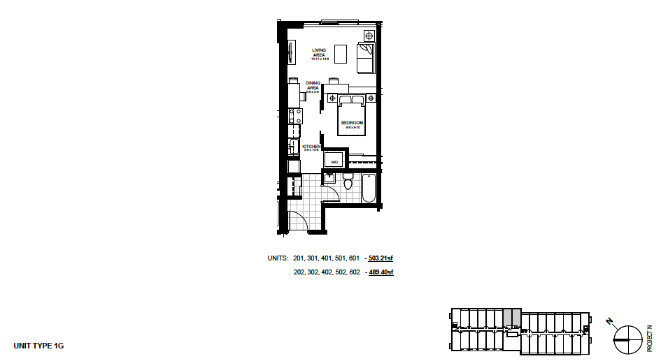 STYLE: 1G $1,250 / month 1 Bedroom Suite.