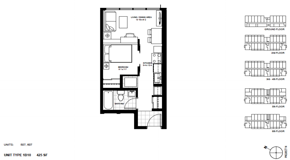 1 Bedroom Suite    1B10 .  $1,425 / month