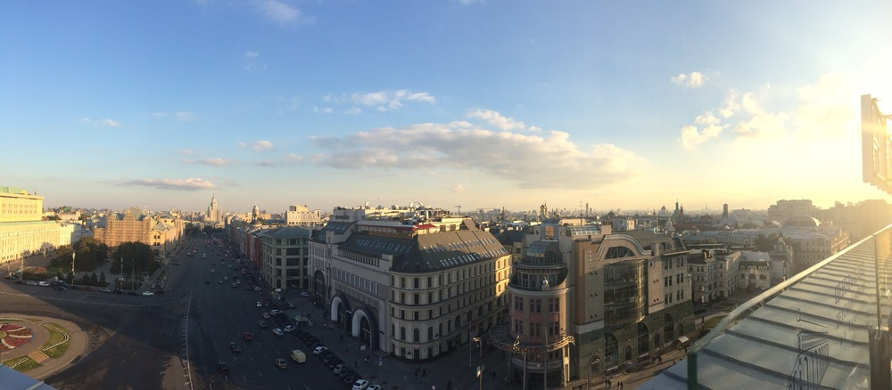 This is a panorama I took from the top of the aforementioned toy store in Moscow.