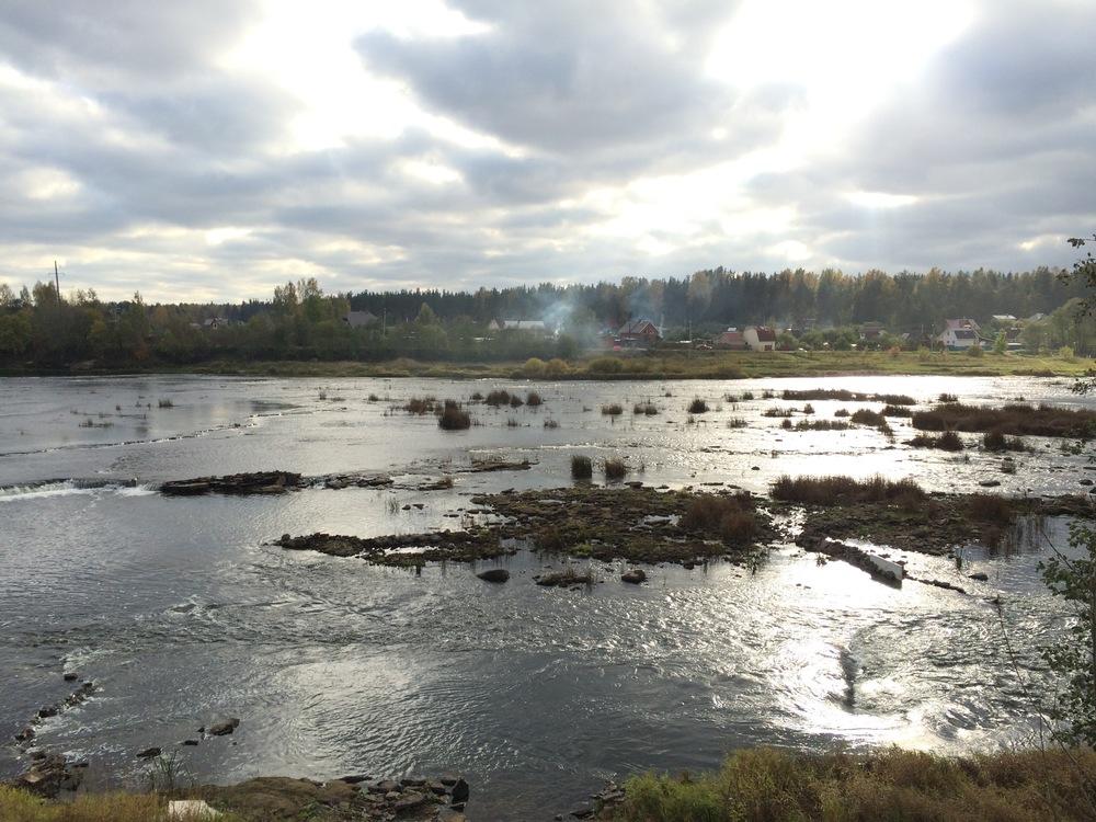 The Luga River in Kingisepp.