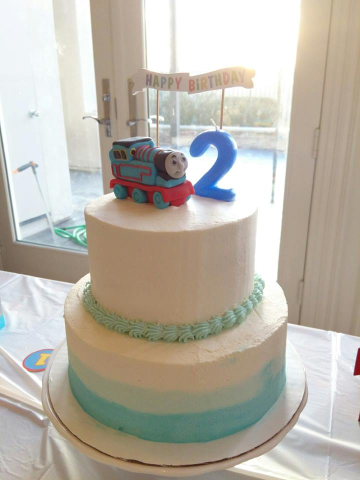 Thomas The Train Cake by Peggy's Kitchen