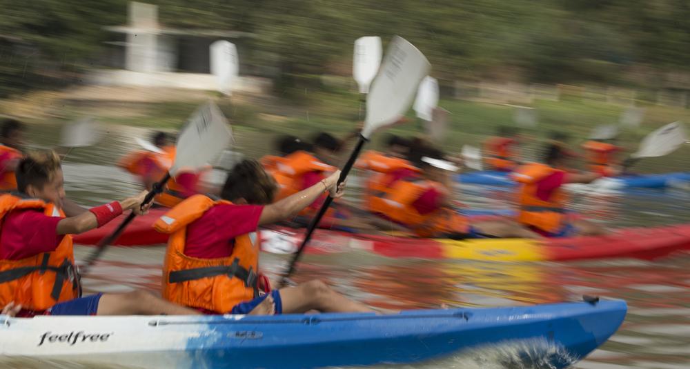 A Kayak race in progress