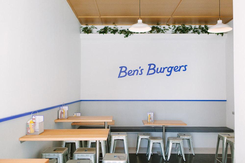 Georgia Cannon Interior Design, Brisbane, Gold Coast,Ben's Burgers. Photographer: Daniel Maddock