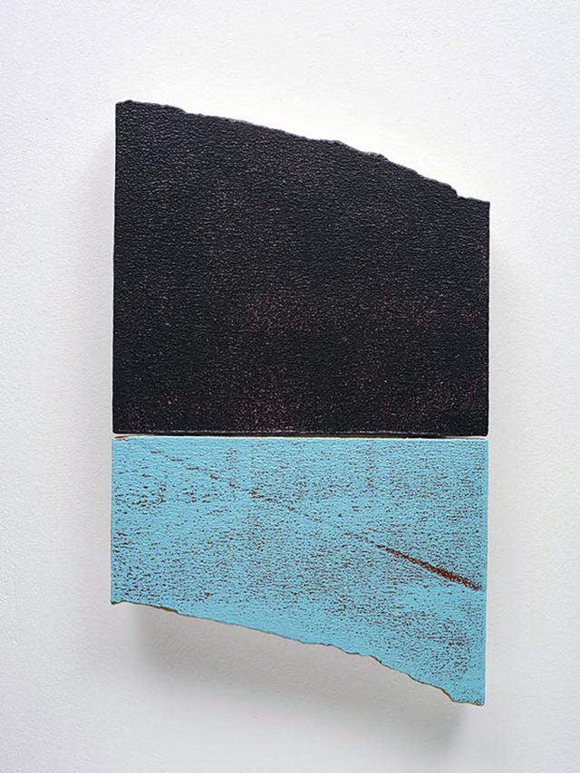 Miles Hall, Ciel-Mer, 2013. Acrylic on prepared EPS panel 50 x 30 x 4cm. Photo: Jan Manton Art