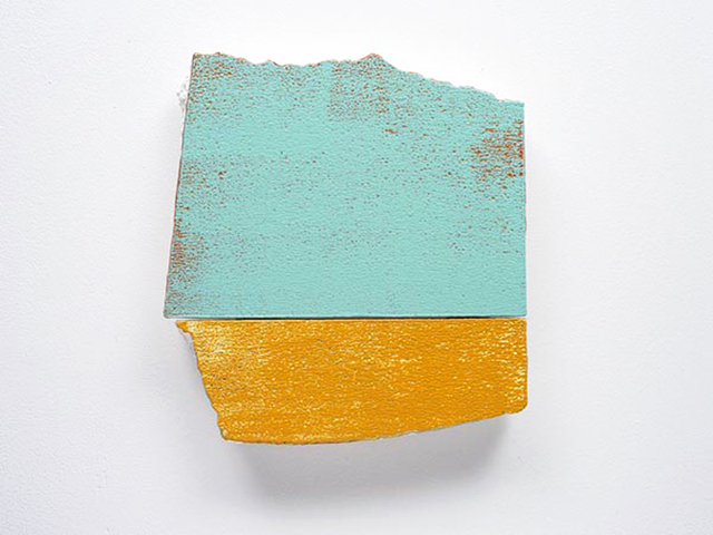 Miles Hall, Flatland Boogie, 2013. Acrylic on prepared EPS panel 32 x 34 x 3.5cm. Photo: Jan Manton Art