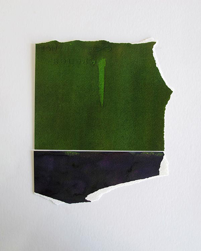 Miles Hall, Untitled VI, 2013. Watercolour on Arches paper 42 x 31 x 3.5cm. Photo: Jan Manton Art