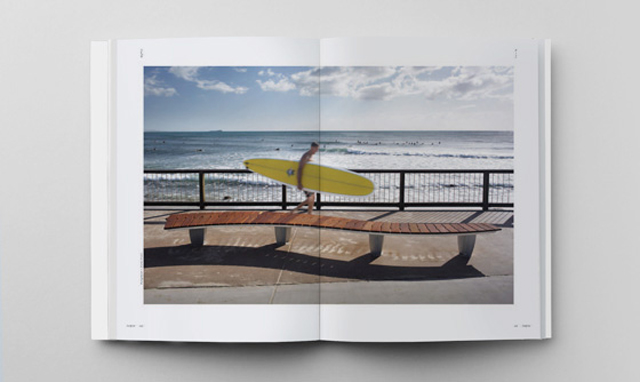 Surya Graf's wave seating series at the Gold Coast. Photo: Hightide