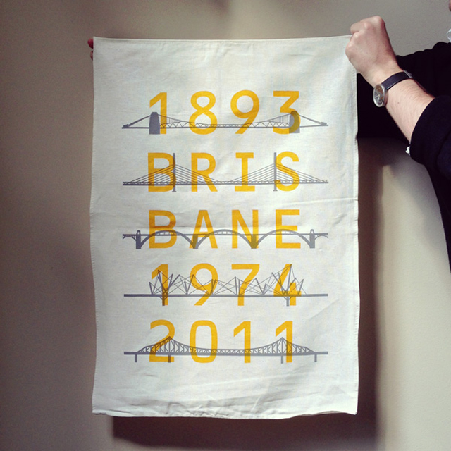 Limited edition Floodmarker linen / cotton tea towel designed by The Letter D. Photo: Capital P