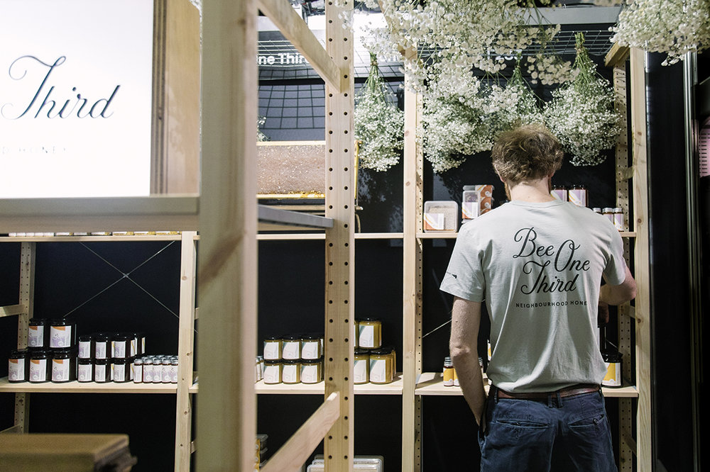 Georgia Cannon Interior Design, Bee One Third Pop Up Stall, Photographer: Bobby Hendry