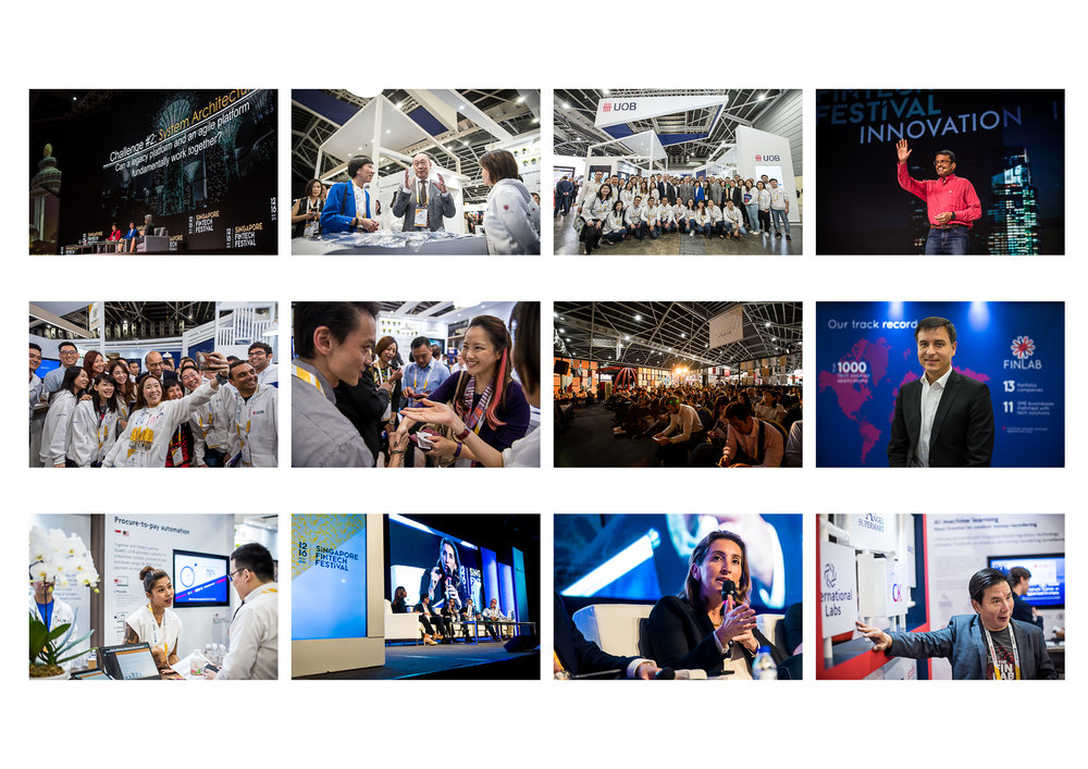VISUAL BALANCE: This is a set of images from the Singapore Fintech Festival 2018. I usually take time to shortlist the final images with my client to ensure that not only the best images are chosen, but also to ensure they are visually diverse and representative of the event.