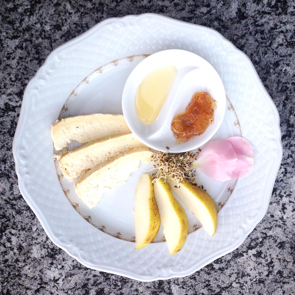 zincarlin con pere, miele e composta di fichi e mele