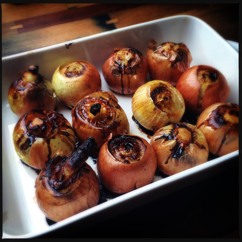 whole roasted onions