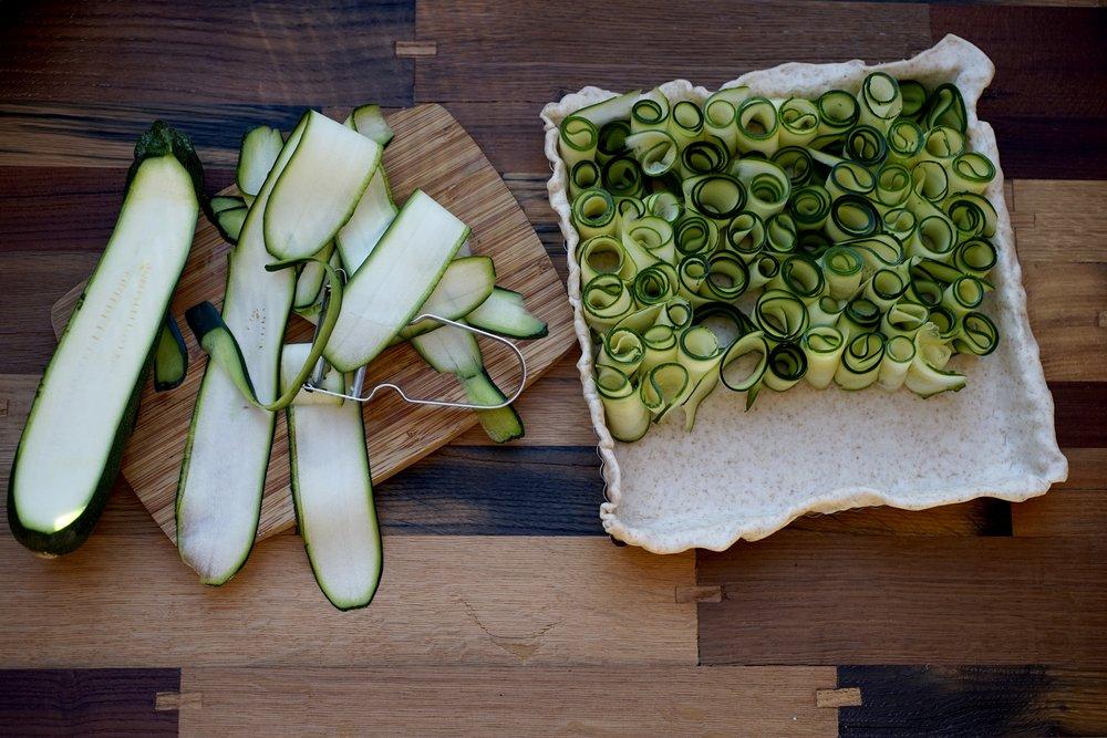 Vaudoise Mint and Zucchini Tart
