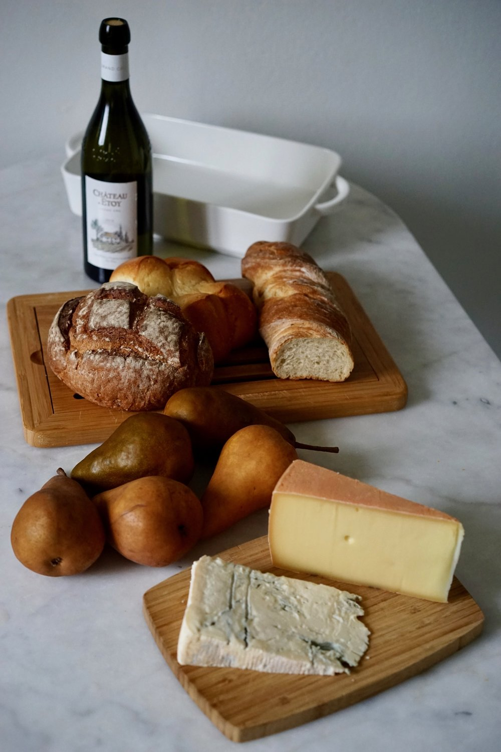 Or add some booze to your cheese... - Tipsy Cheese and Pears