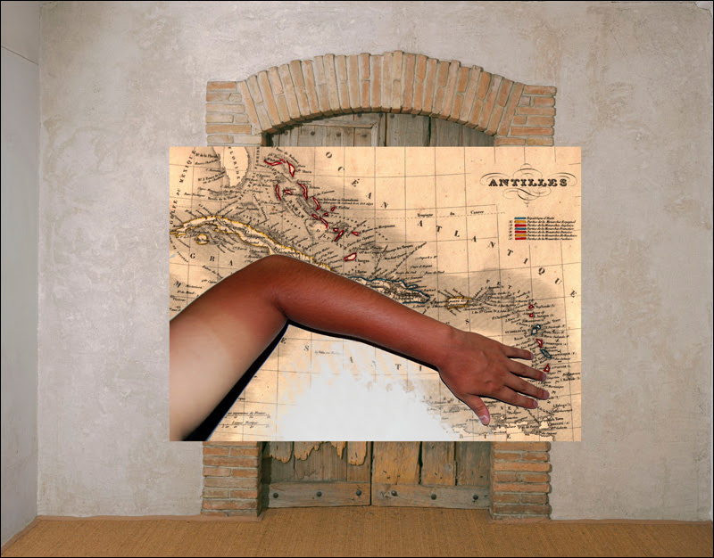 Manuel Arturo Abreu,  Tan Arm, Antilles, Etant Donnés Door , 2014