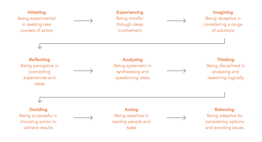 Fig 1.   Combine a range of learning styles for sustainable professional development (based on Kolb's learning cycle)
