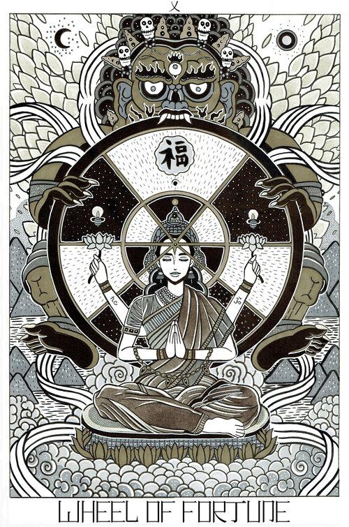 The Kami Tarot Card Deck Cosmo Mulford Illustration