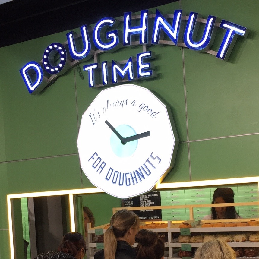 If you need a pick me up while exploring through Top Shop - they have a new donut shop instore - There were queue's of people coming in specifically to grab a donut from this new hot spot.