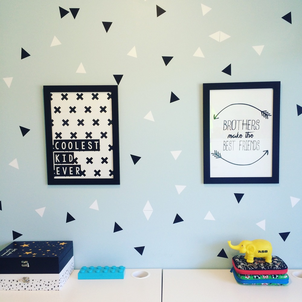 I love the pale blue recently used in a clients kids bedroom.  The white & black details really pop against the freshness of the pastel.