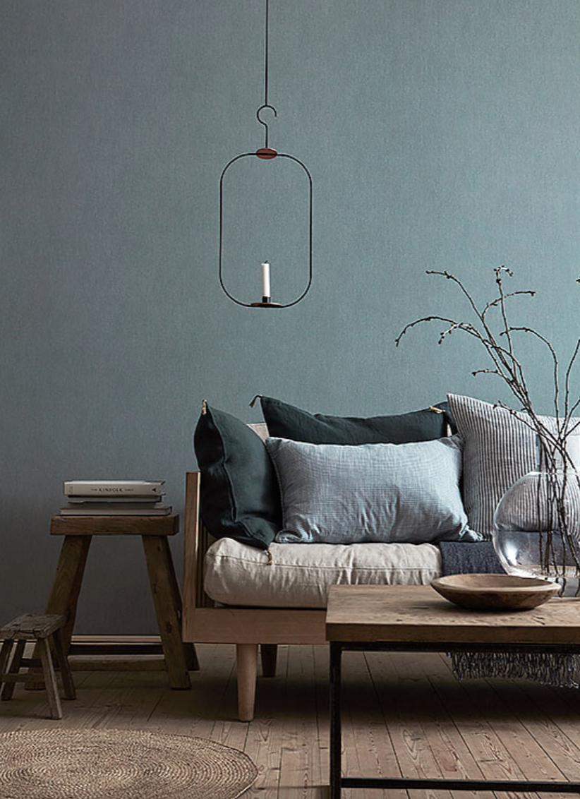 Linen by Boras Tapeter comes in a huge range of colours and has a very subtle linen look - giving you a simple look but more depth than a flat coat of paint would.