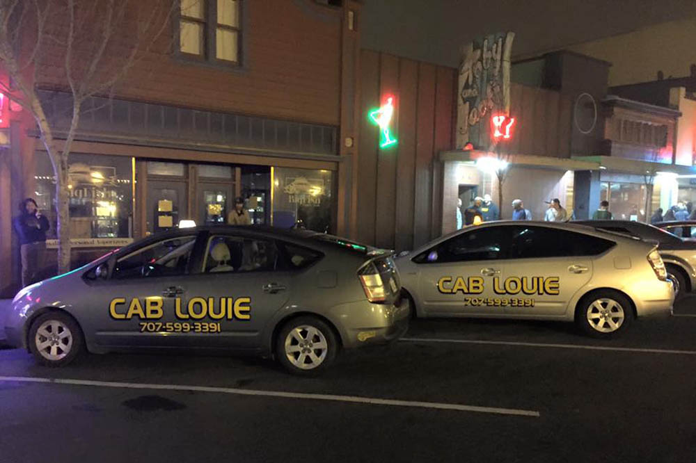 Cab Louie in Arcata Plaza