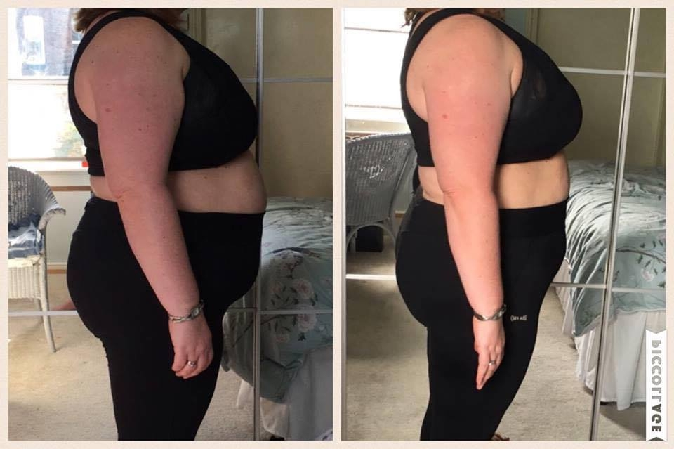 SARAH'S BEFORE & AFTER AFTER JUST 8 WEEKS*