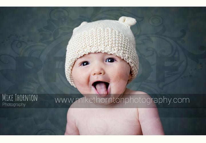 Happy baby photographer
