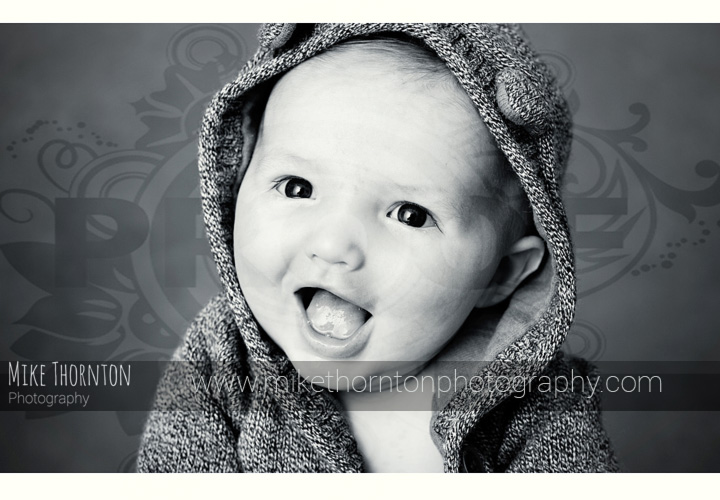 Smiling baby photography